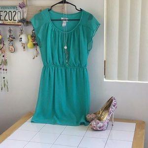 Sweet Storm Aqua Dress